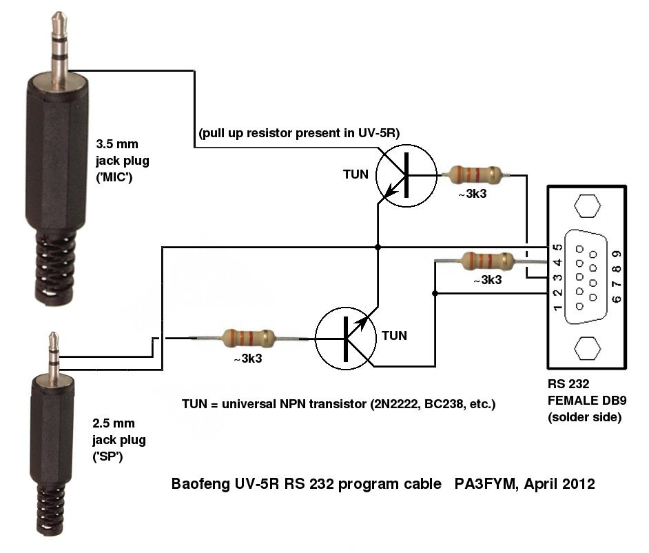 Baofeng Programming Cable Schematic UV-5R